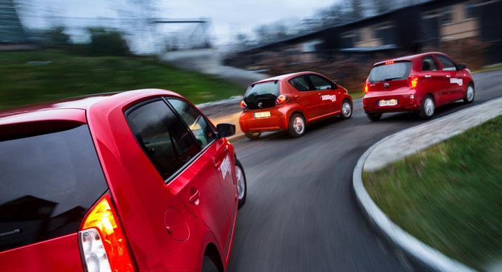 Biltest: Kia Picanto, Skoda Citigo, Toyota Aygo (2012)