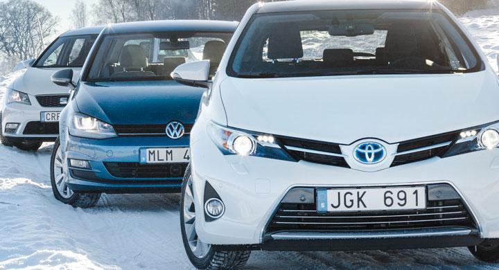 Biltest: Seat Leon, Toyota Auris, Volkswagen Golf (2013)