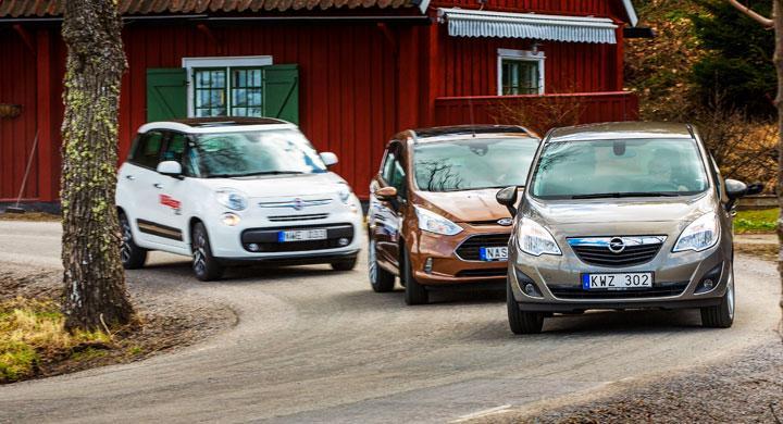 Biltest: Fiat 500L, Ford B-Max, Opel Meriva (2013)