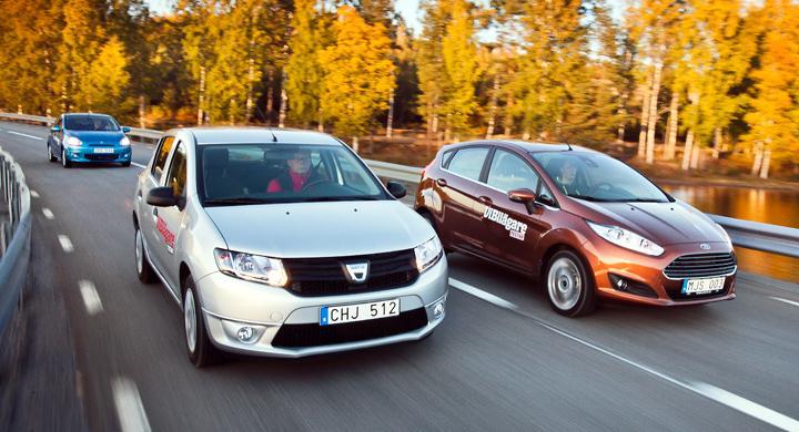 Biltest: Dacia Sandero, Ford Fiesta, Mitsubishi Space Star (2013)