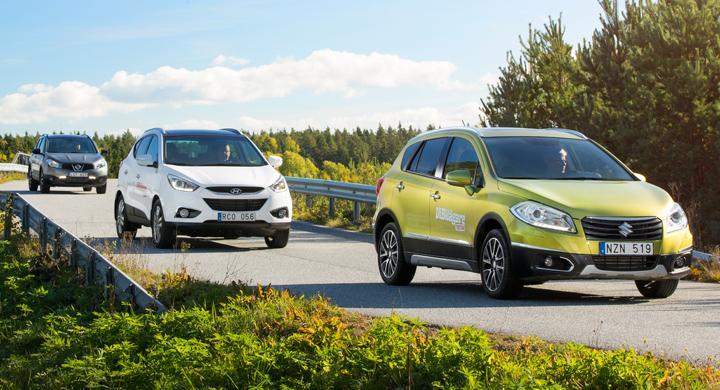 Biltest: Suzuki SX4 S-Cross, Hyundai iX35, Nissan Qashqai (2013)