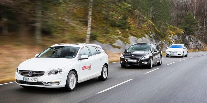 Biltest: Volvo V60, Opel Insignia, Peugeot 508 (2014)