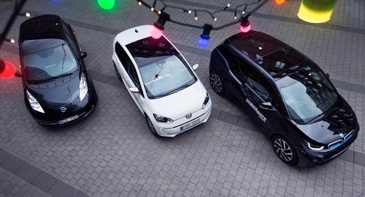 Biltest: BMW i3, Nissan Leaf, Volkswagen e-Up (2014)