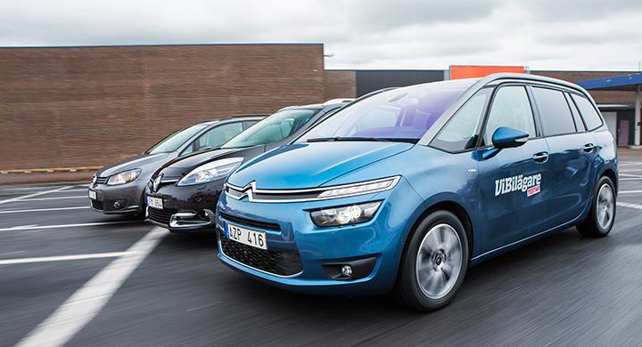 Biltest: Citroën Grand C4 Picasso, Renault Grand Scénic, Volkswagen Touran (2014)