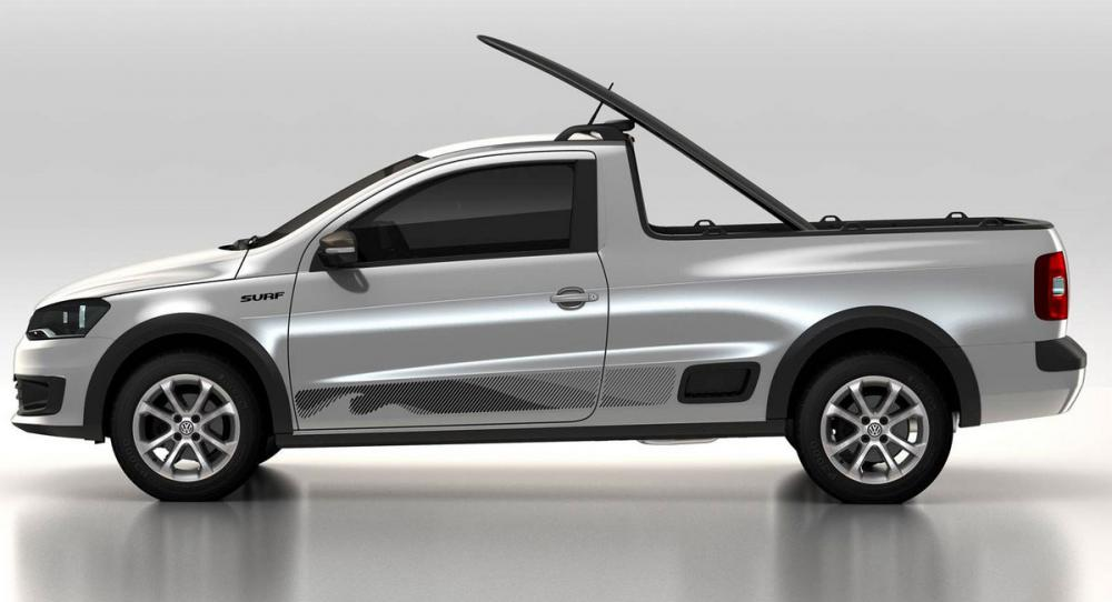 Personbilspickupen Volkswagen Saveiro säljs bara i Latinamerika.
