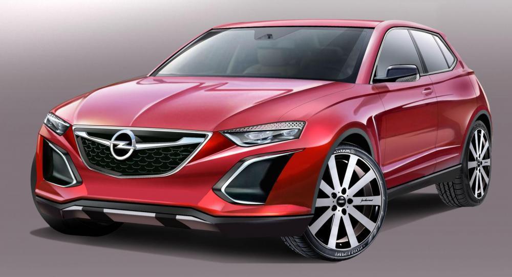 Så här kan nya suven Opel Monza se ut när den rullar ut på vägarna om 5-6 år.