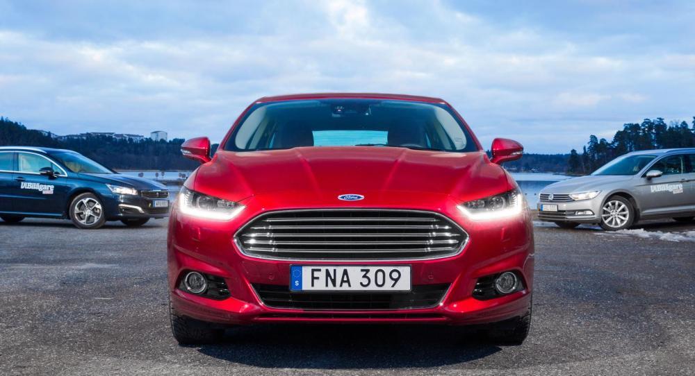 Ljustest: Ford Mondeo, Peugeot 508 och VW Passat