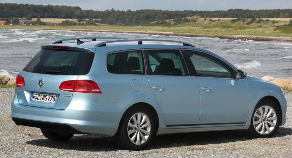 VW Passat med trilskande backkamera.