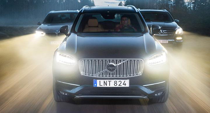 Ljustest: Volvo XC90, Mercedes ML, BMW X5