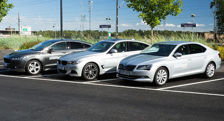 Ljustest: BMW 320d GT, Ford Mondeo, Skoda Superb