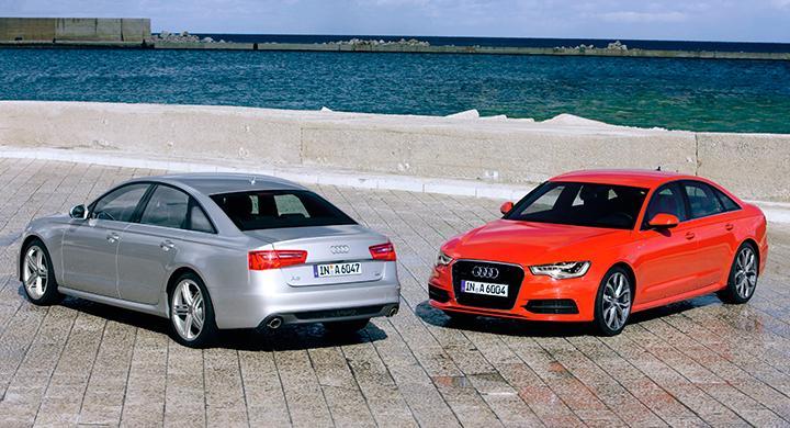 Audi A6 sedan – ovanlig syn i Sverige.