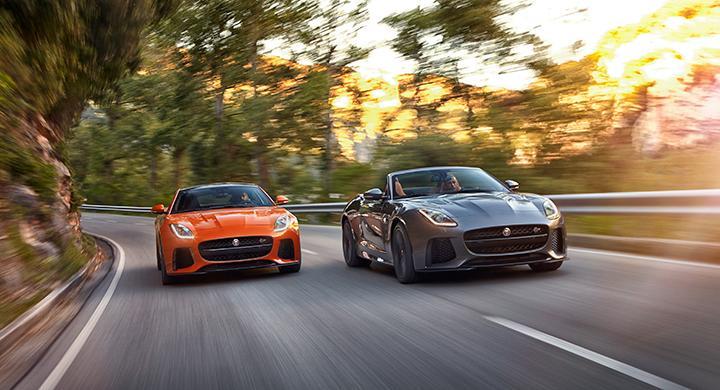 Jaguar F-Type coupé och cabriolet i SVR-tappning.