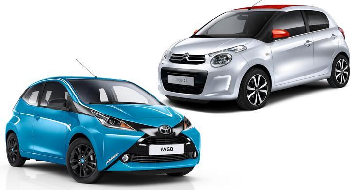 Frågeställaren väljer mellan en Toyota Aygo och en Citroën C1.