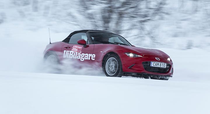Mazda MX-5 hamnade på fjärde plats i 2016 års vinterbilstest av långteststallet.