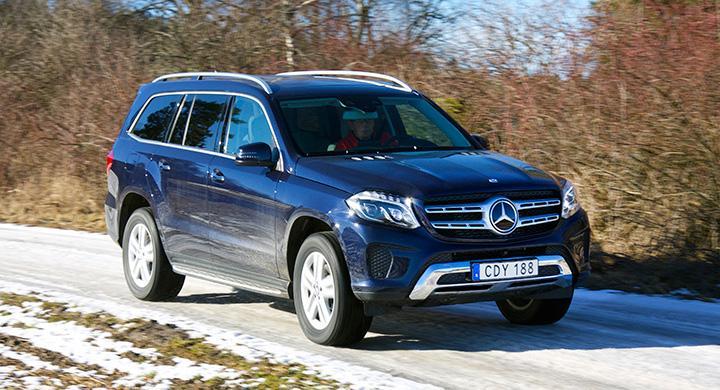 516 cm lång och nästan 2,7 ton tung, Nya Mercedes GLS  är en stor bil. Jättestor!