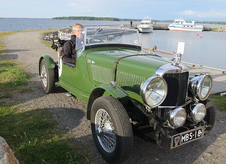 """Alvis 12/70 från 1938, Stig Lytz """"sommarbil"""" i Österbotten."""