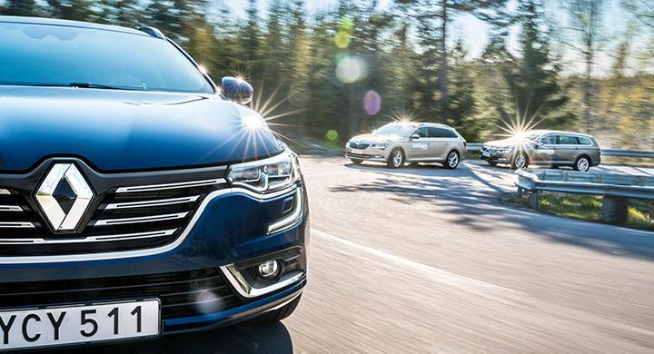 Ljustest: Renault Talisman, Skoda Superb, Volkswagen Passat (2016)