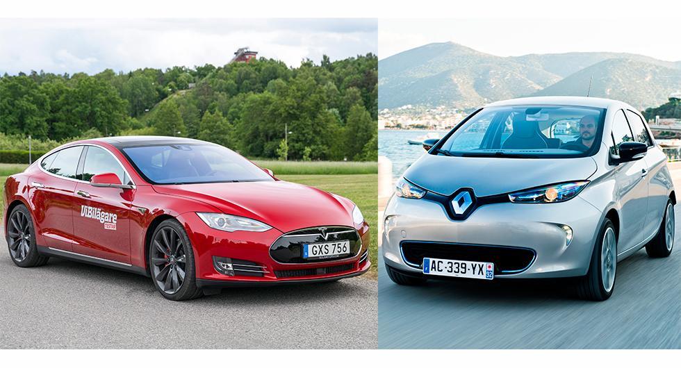 Renault och Tesla bäst på miljö