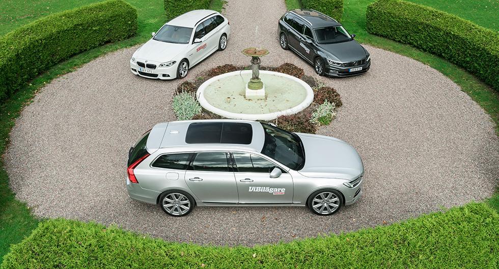 Ljustest: Volvo V90, Volkswagen Passat, BMW 5-serie (2016)