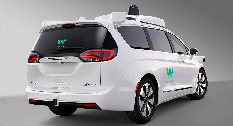 Waymo visar självkörande bil