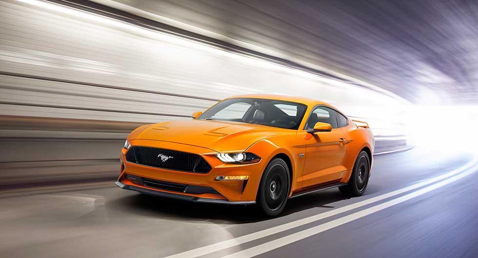 Ford Mustang hänger läpp