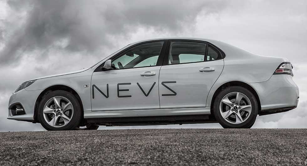 Elektriska bilen från Nevs baseras på Saab 9-3 och byggs i Kina. Räckvidden ska vara 25-30 mil.