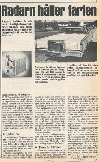 Det var då, 1972: Autobroms och p-radar inga moderna påfund