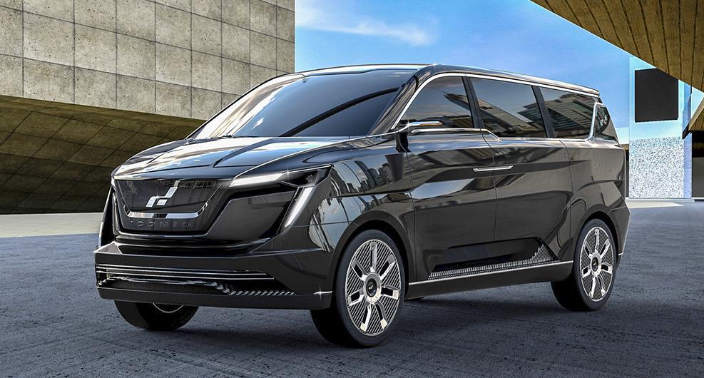 Iconiq Motors visade eldrivna modellen Seven på bilmässan i Shanghai.