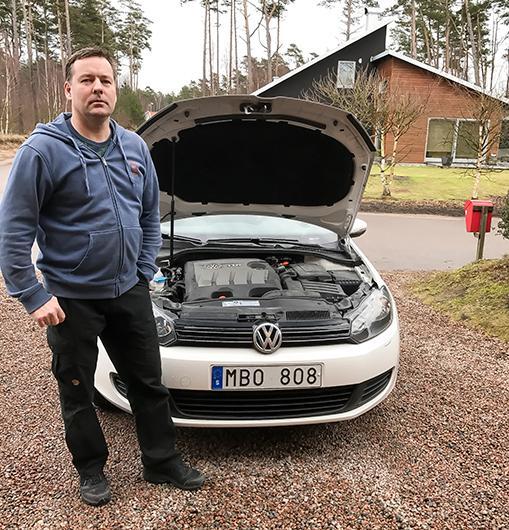 Vissa Volkswagen-ägare får problem med EGR-ventlien efter mjukvaruuppdateringen. En av de drabbade är Carl-Johan Danielsson i Mellbystrand.