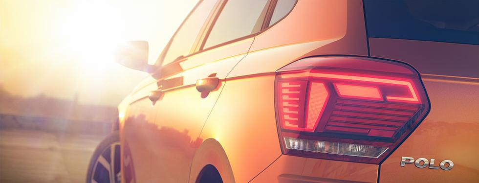 Detaljbild av nya Volkswagen Polo.