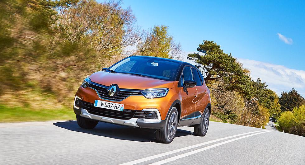 Ny front med grill och LED-strålkastare ska påminna om övriga högbyggda bilar i Renaults sortiment.