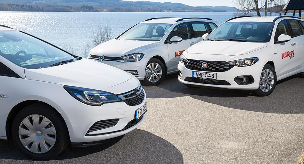 Ljustest: Fiat Tipo Kombi, Opel Astra Sports Tourer, Volkswagen Golf Sportscombi (2017)