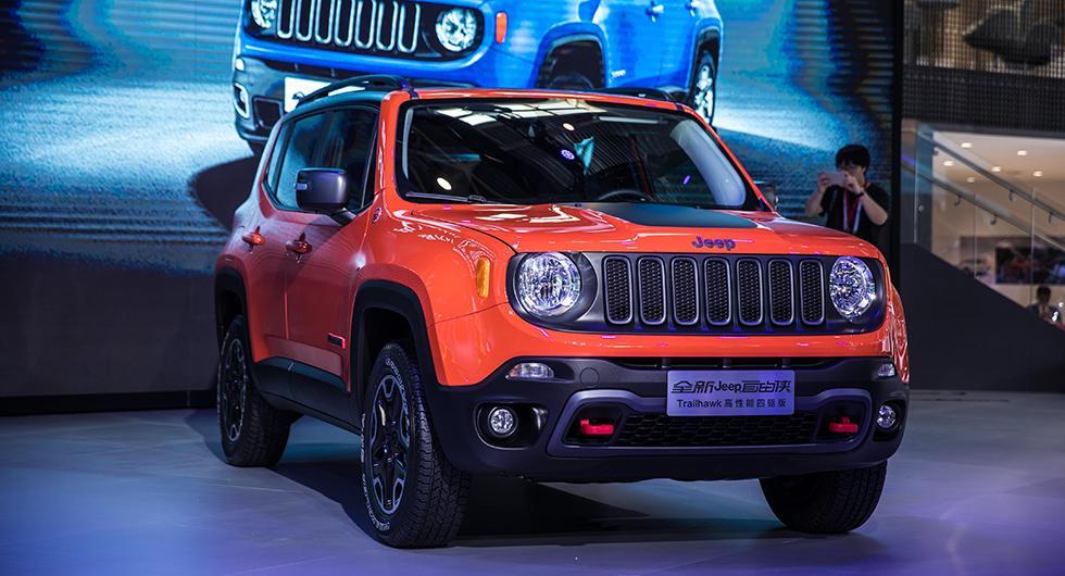 Jeeps monter på Beijing Auto Show. Varumärket sägs vara det mest värdefulla i Fiat Chryslers portfolio.