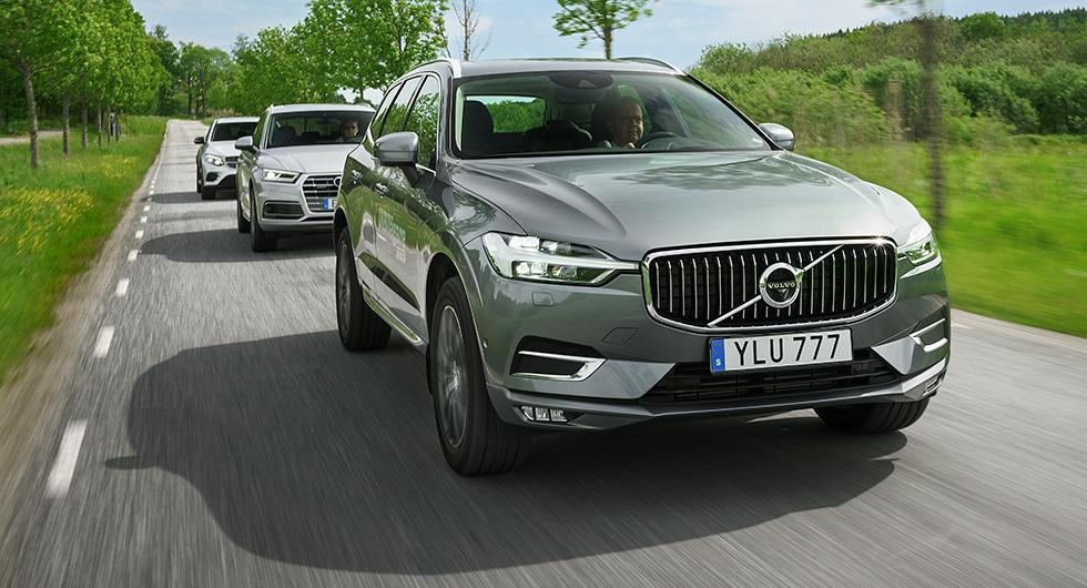 Ljustest: Audi Q5, Mercedes GLC, Volvo XC60 (2017)
