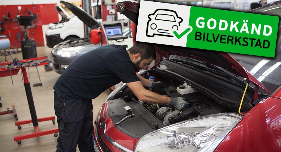 En ny märkning hos bilverkstäderna ska garantera att de följer alla regler.