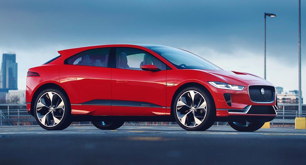 Jaguars kommande eldrivna suv I-Pace har bara visats som prototyp hittills.