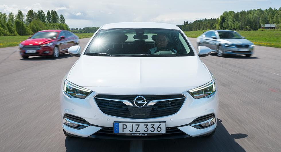 Ljustest: Opel Insignia, Ford Mondeo, Skoda Superb (2017)