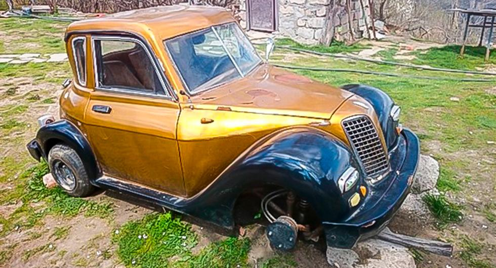 Frågeställaren såg den här skapelsen i Georgien och undrar vad det kan vara för bil.