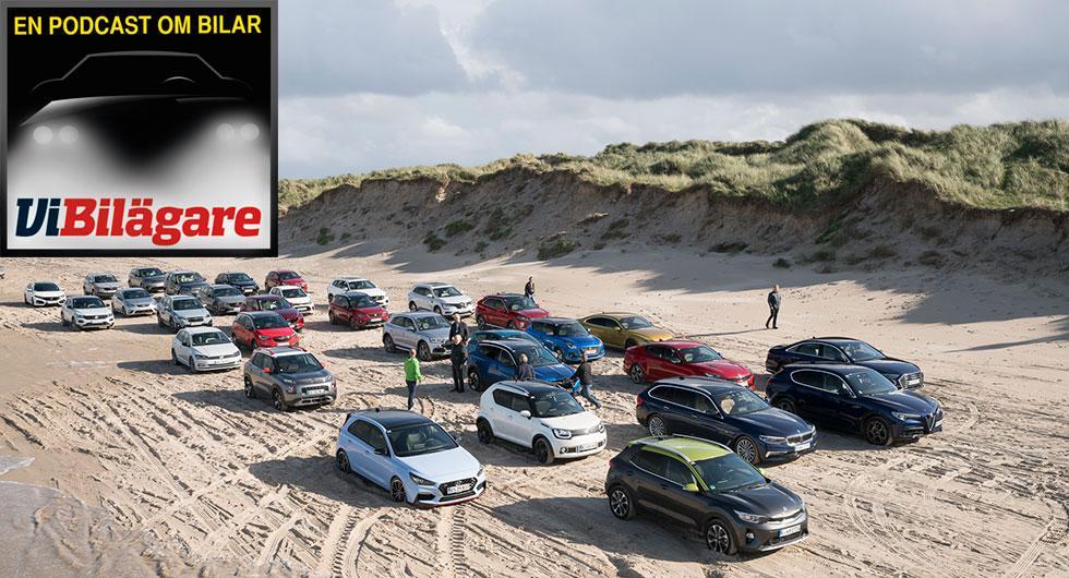 Danskt smörgåsbord av bilar