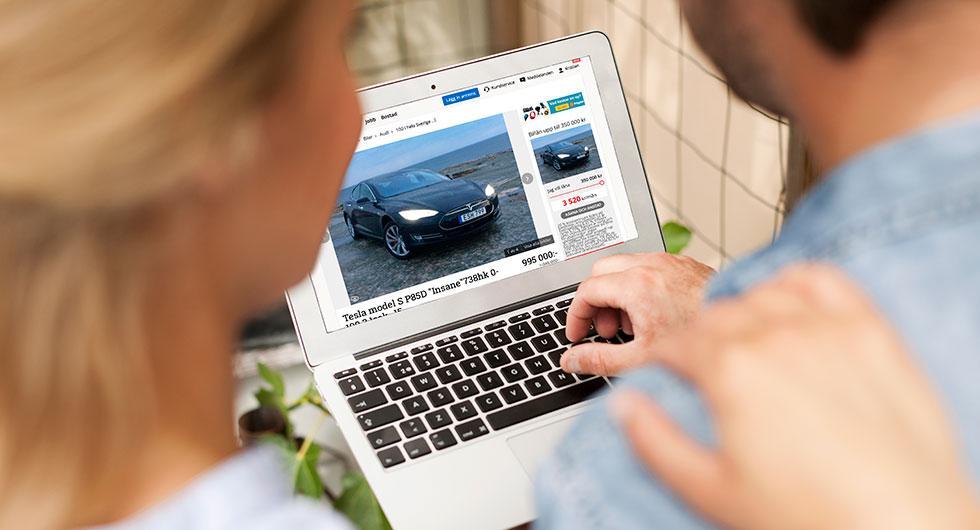 Försäljningssajten Blocket såg en ökande trend i sökningar på elbilar och hybrider 2017.