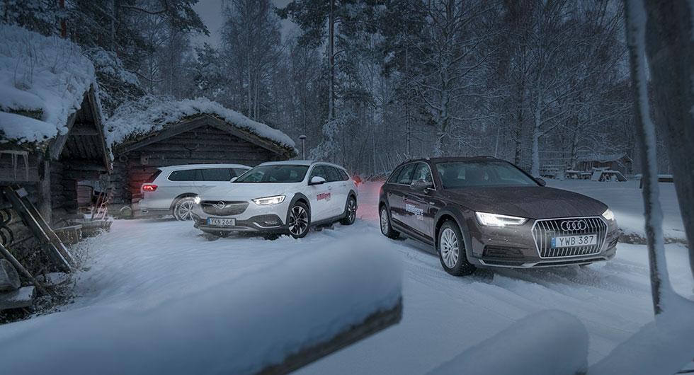 Ljustest: Audi A4 Allroad, Opel Insignia Country Tourer, Volkswagen Passat Alltrack (2018)