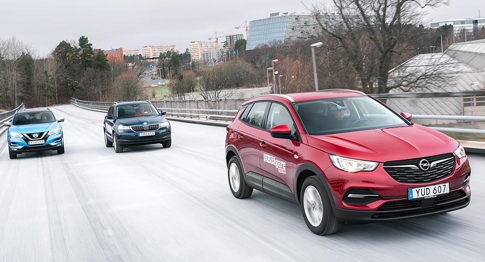 Ljustest: Skoda Karoq, Nissan Qashqai, Opel Grandland X (2018)