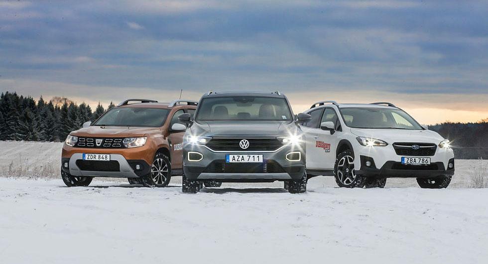 Ljustest: Dacia Duster, Subaru XV, Volkswagen T-Roc (2018)