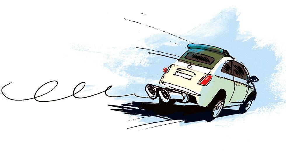 Frågeställaren undrar om dubbla avgasrör verkligen gör någon nytta. Illustration: Johan Isaksson.