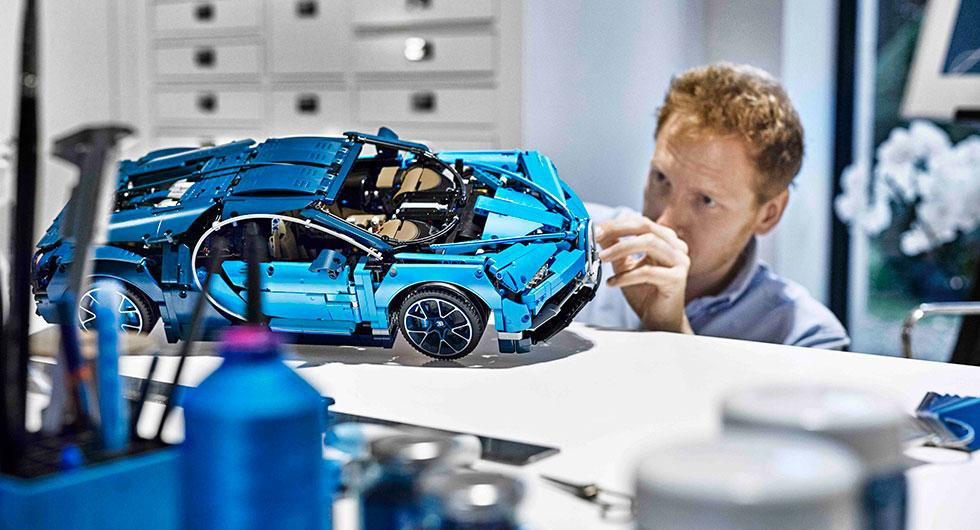 Bugatti Chiron som Legobil