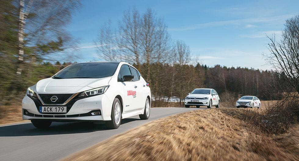 Test: Hyundai Ioniq Electric, Nissan Leaf, Volkswagen e-Golf (2018)