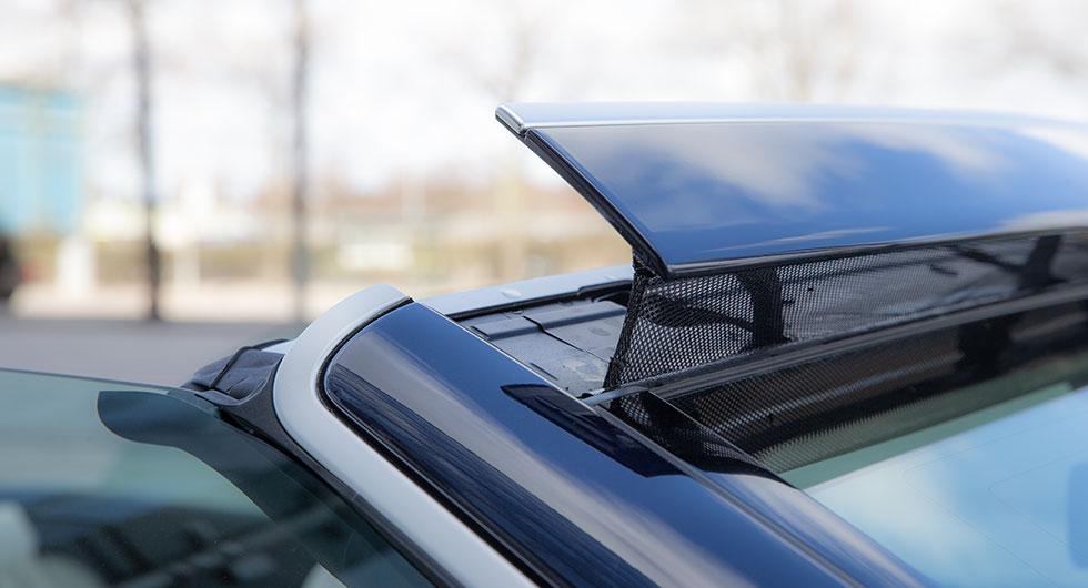 Aircap leder bort vinden men skapar samtidigt ett irriterande brus.