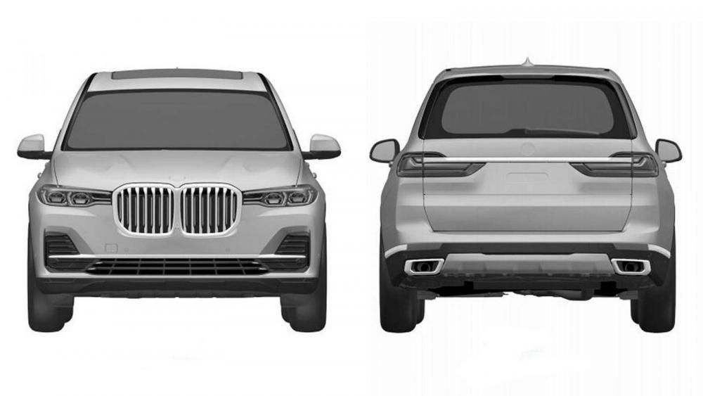 Patentbilder på BMW X7