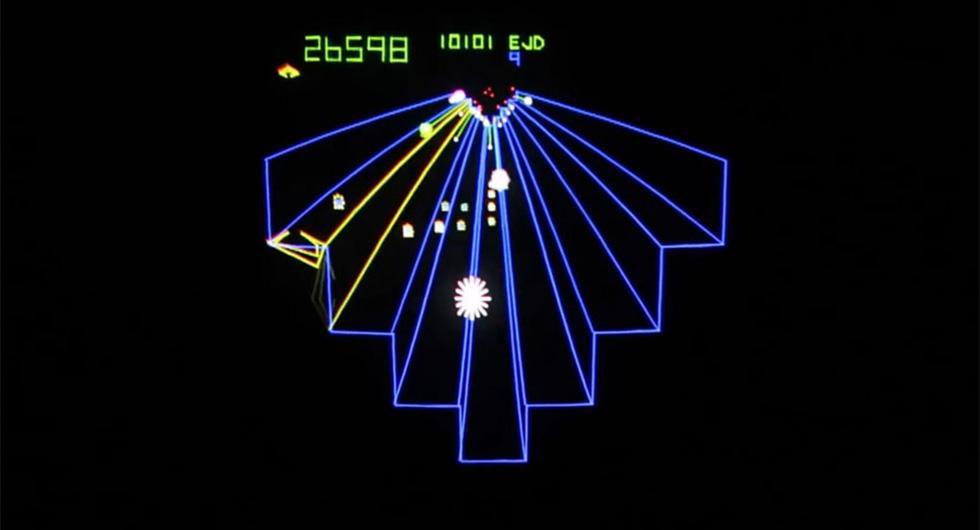 Det klassiska Atari-spelet Tempest.
