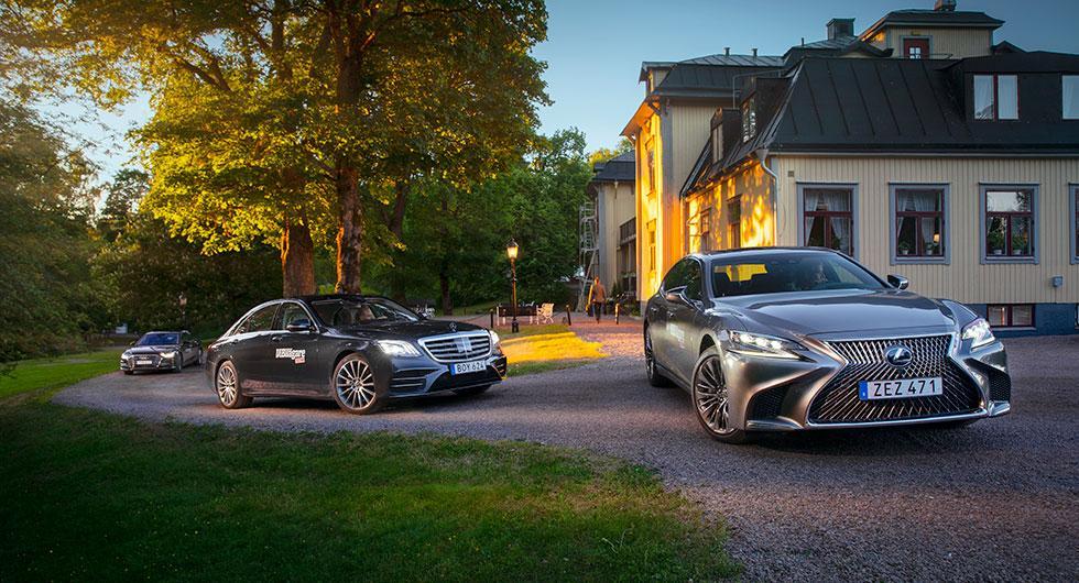 Ljustest: Audi A8, Lexus LS 500h, Mercedes S-klass (2018)